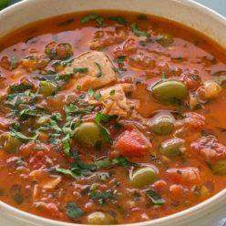 суп томатный с горбушей